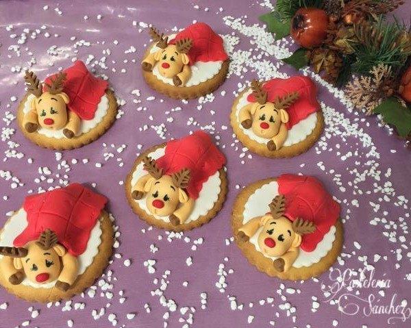 Galletas Navidad bebe renos